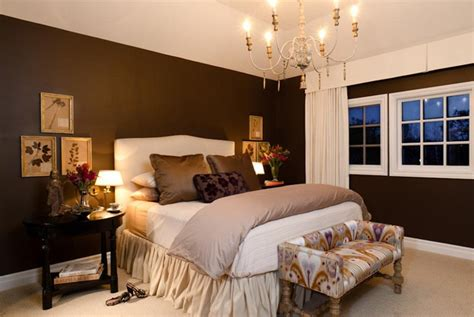 dark brown bedroom walls dark brown walls w light bedding white trim rug house decor pinterest bedrooms dark