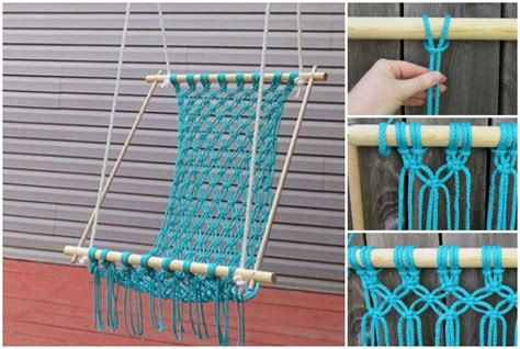 diy hammock swing how to diy macrame hammock chair