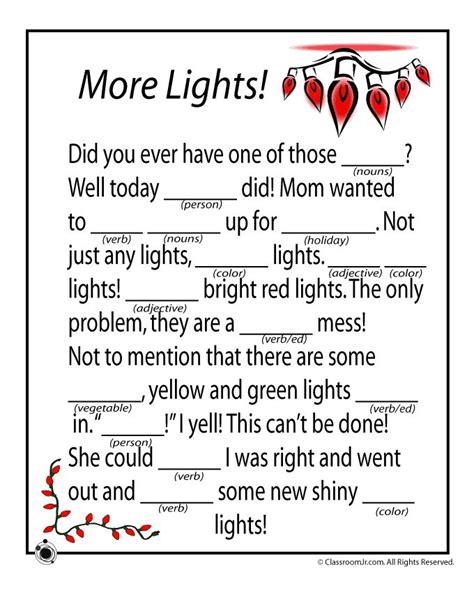 printable holiday mad libs christmas mad libs christmas mad libs more lights
