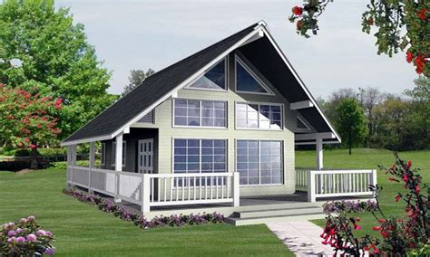 lake cottage plans with loft house plans small lake small vacation house plans with