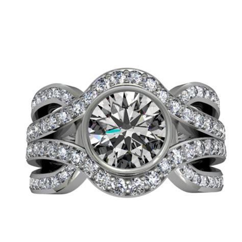 diamonds knots 14k white eclectic