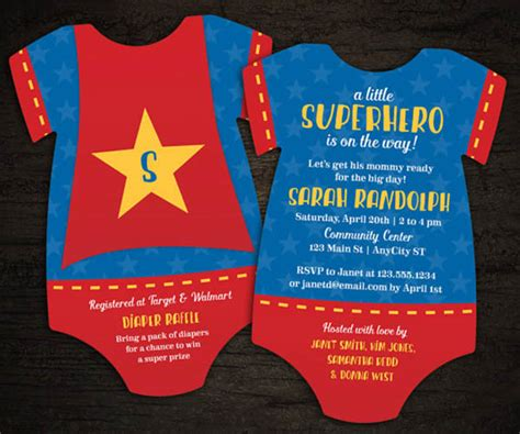 Fantastic Superhero Baby Shower Ideas B Lovely Events Superman Baby Shower Invitation Template