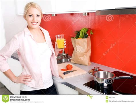 Standing In The Kitchen by Standing In Kitchen Stock Photography Image 8883312
