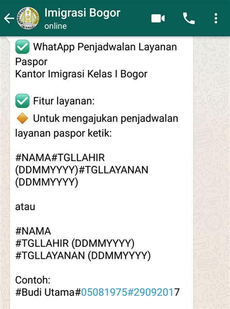 cara membuat paspor yang bermasalah cara membuat paspor anak lewat antrian whatsapp ternyata