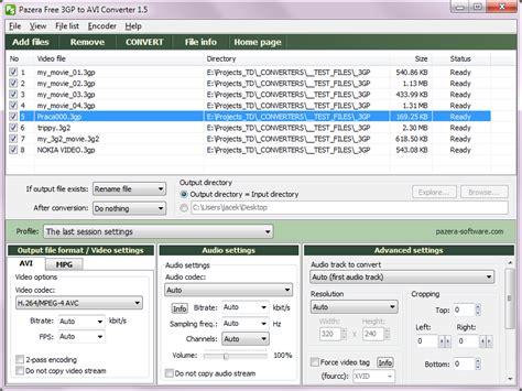 avi format converter software pazera free avi to mp4 converter