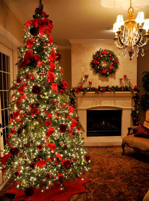 beautiful beautifully decorated christmas trees around