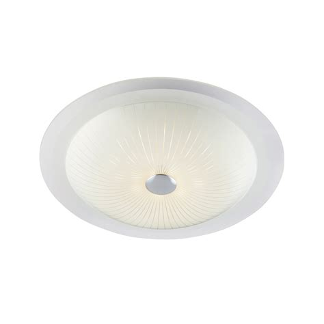 endon 61229 fretton 1 light led glass flush fitting