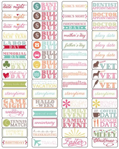 printable planner stuff cute planner things arc obsession pinterest
