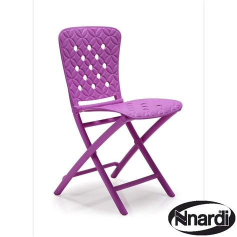 purple folding chair zic zac folding chair in purple with quot quot design