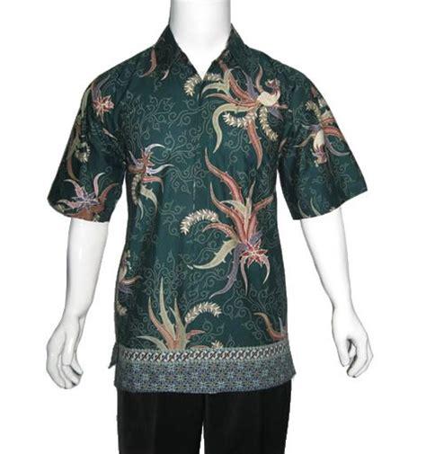 Kemeja Hem Batik Pria Wayang Duet Abu Abu kemeja batik modern kontemporer hijau in batik modern