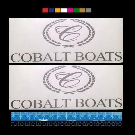 cobalt boats emblem 2 two cobalt boats marine hq decals 12 quot silver