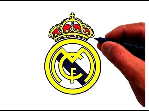 tutorial logo real madrid full download how to draw real madrid logo