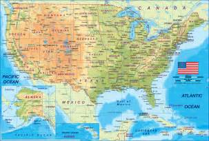 united states on a world map map of united states the usa map in the atlas of the