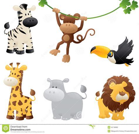 imagenes animales de la selva animados animales de la selva ilustraci 243 n del vector ilustraci 243 n