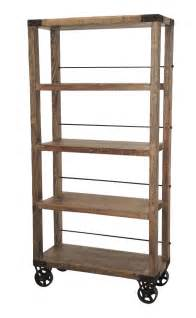 tall industrial bookcase on wheels bookcases amp shelves