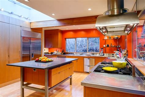 orange kitchens red orange kitchen cabinets