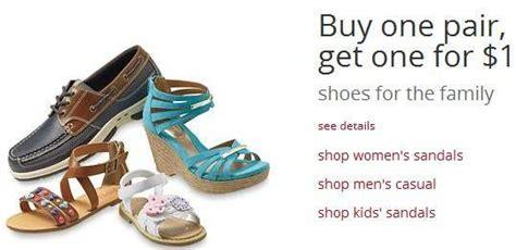 kmart sandal sale kmart shoes sale buy 1 pair get 1 for 1