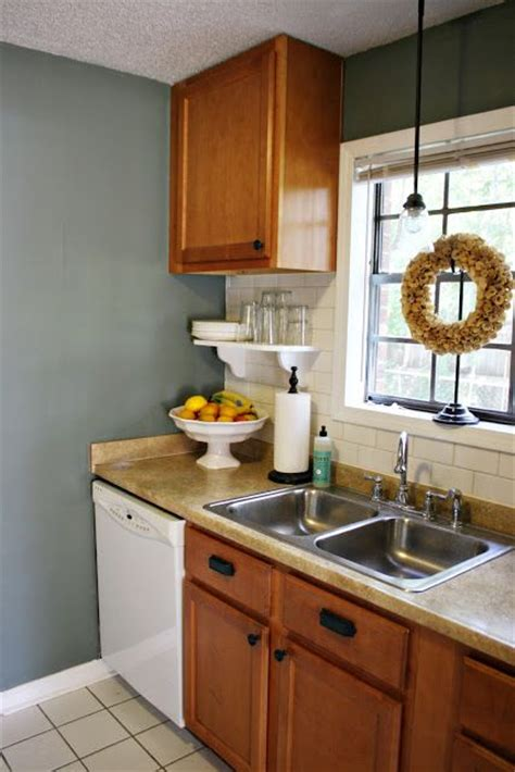 blue wall paints oak cabinets and blue walls on