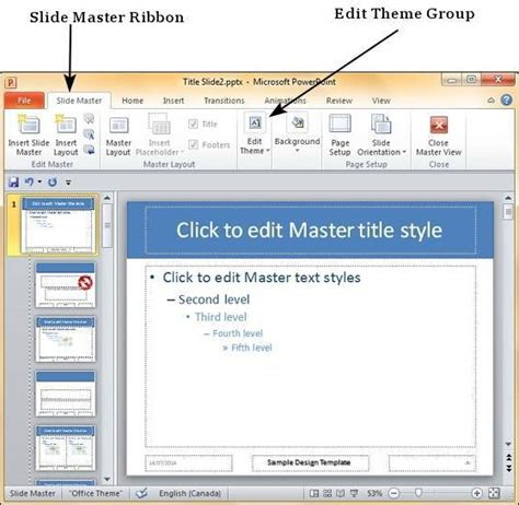 powerpoint 2010 edit template save design template in