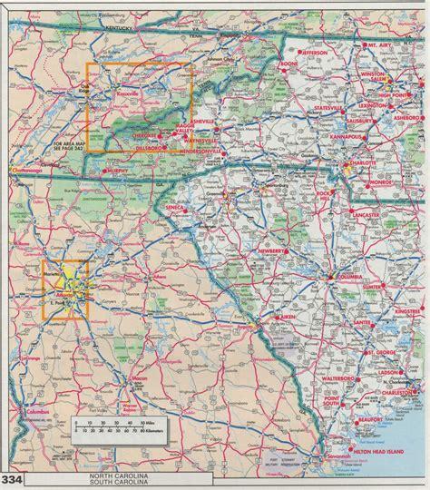 carolina road map index of maps