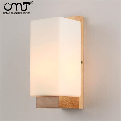 new modern wall sconce glass wood l lights hallway 2017 2015 new arrival led modern wood wall l glass