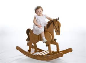 Handcrafted Home Decor Applejack Childrens Heirloom Rocking Horse Baby Room