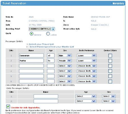 ticket booking easy and options for railway booking through irctc