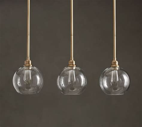 Pb Glass Globe 3 Light Pendant Pottery Barn