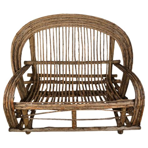 twig bench adirondack settee twig bench at 1stdibs