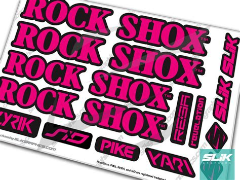 Rockshox Retro Stickers by Rockshox Retro Fork Decal Kit Slik Graphics