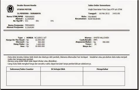 document formulir yang digunakan dan deskripsinya