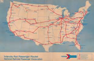 Map Of Amtrak Routes by Amtrak Route Map 1971 From The November 14 1971 System
