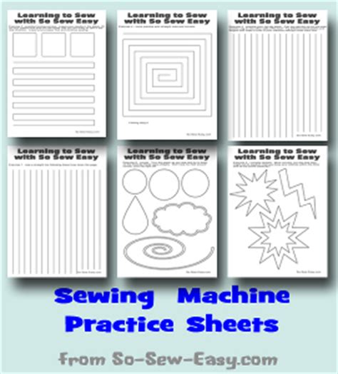 pattern test practice printable sewing machine practice sheets allfreesewing com