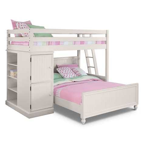 bunk beds images colorworks loft bed with full bed white american