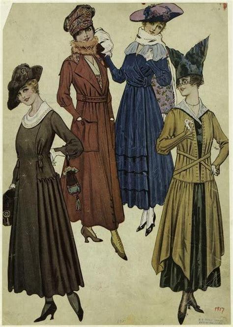 styles of 1914 1917 womens fashion ww1 fashion pinterest fashion