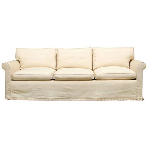 Modern Slipcover Sofa with Modern Slipcover Sofa At 1stdibs