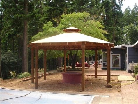 Simple Gazebo With Fire Pit Fire Pit For Your Home Gazebo Pit