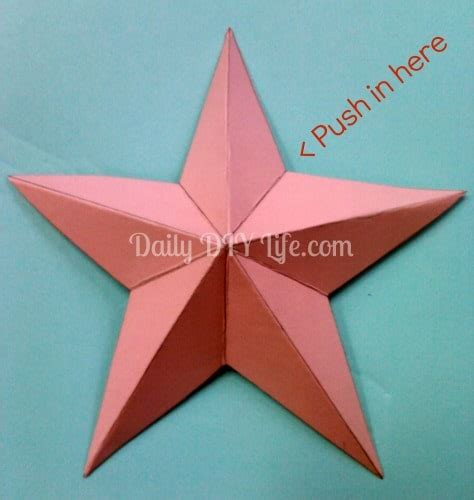 pattern paper star diy paper craft quick easy 3 d paper star