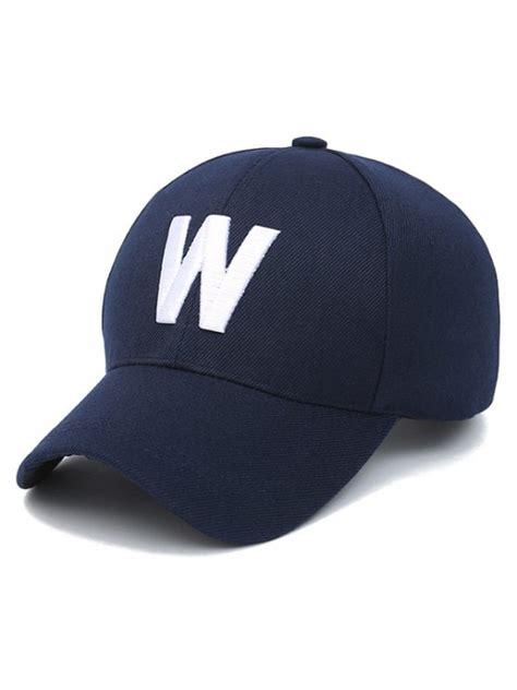 W Letter Baseball Hat by Letter W Baseball Hat Purplish Blue Hats Zaful