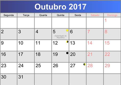 Calendã Outubro Calend 225 Fiscal Outubro 2017 Transcrita