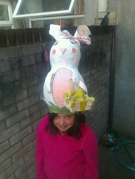 Handmade Easter Hats - handmade easter bunny bonnet hat a amazing paper