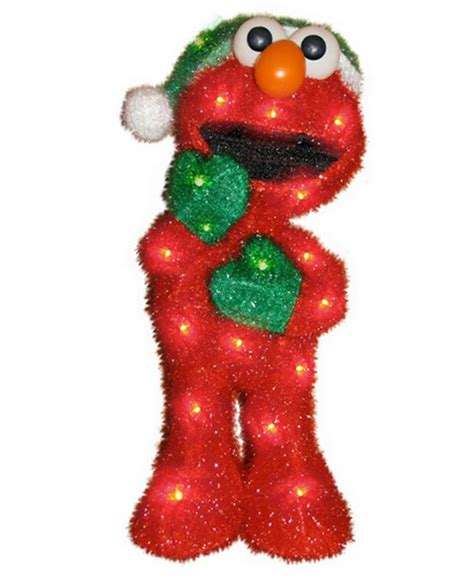 sesame street 3d light up elmo yard art christmas display