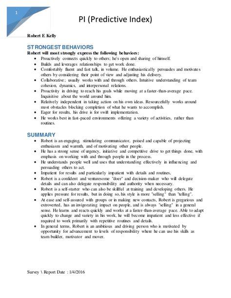 predictive index sle report summary of predictive index