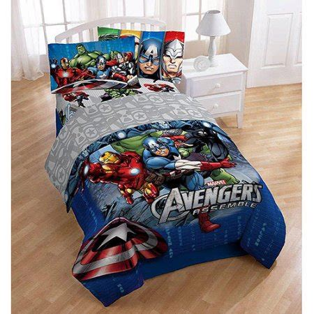 avengers toddler bedding marvel comics avengers quot halo quot twin full bedding comforter walmart com