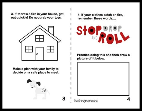 preschool fire safety booklet printables fire safety week