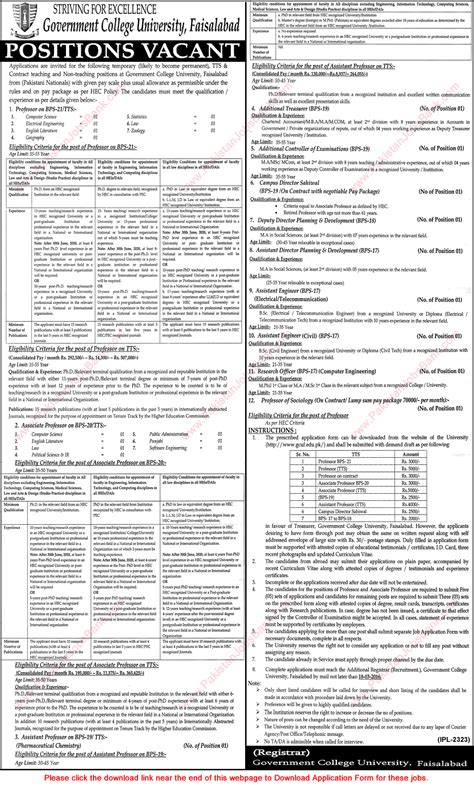 Mba Gcuf by Gc Faisalabad 2016 March Application Form