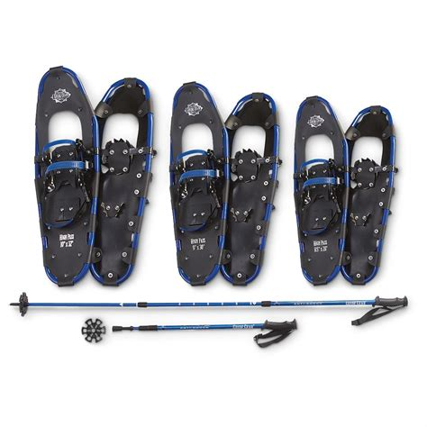 guide gear 174 high pass snowshoe pole combo 207538