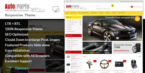 auto parts tools opencart theme by templatemela