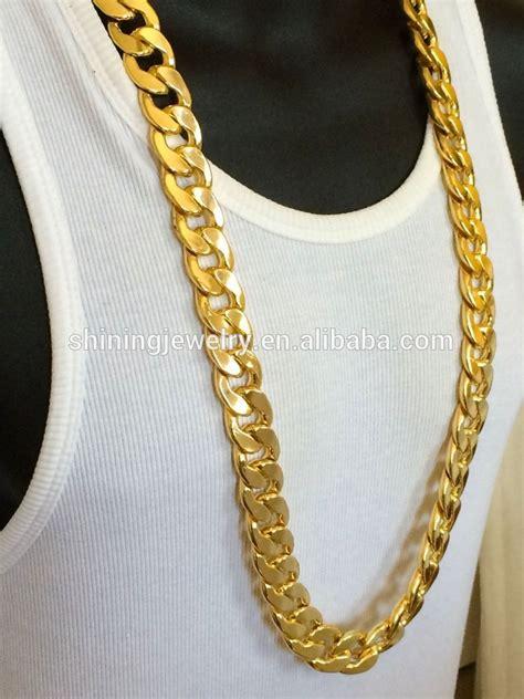 cadena de oro 18 k oro laminado miami cadena cubana collar - Cadenas Cubanas Miami