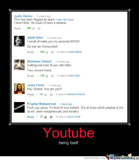 Youtube Comment Memes - good old youtube comments by kaladriel meme center